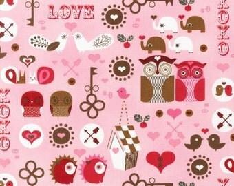 Robert Kaufman Kiss Me Pink Fabric 1 yard