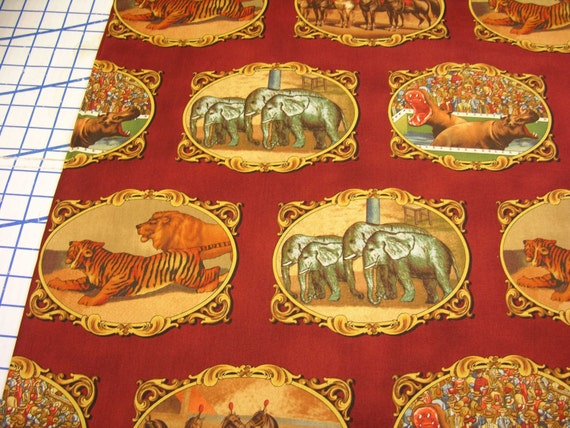 Windham fabrics Shelburne Circus 31373-5 Red Appliques 26 Inches LAST PIECE