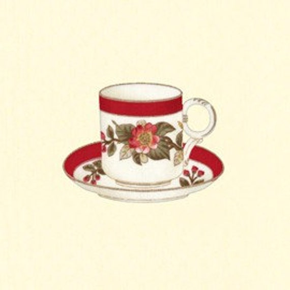 Lakehouse Penelope Champagne Teacups Panel by Holly Holderman 23 inches