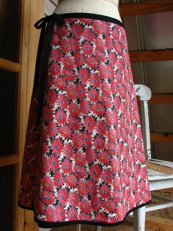 LUCY Vintage Feedsack Fabric Wrap Skirt