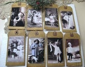 Old Time Christmas, Primitive Hang Tags, Holiday Scented