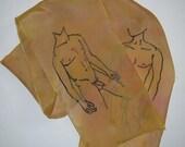Male Nude Silk Scarf
