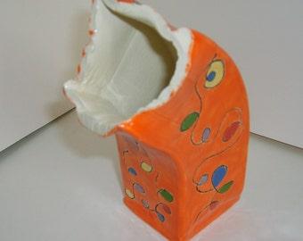 Scribble Vase - Orange