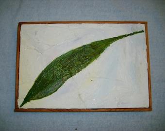 Single Leaf Original Oil Painting 8 in X 12 in