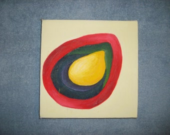 Seed I original oil painting 8 in X 8 in
