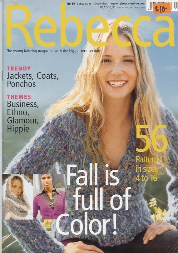 Knitting Magazines List : Sale rebecca knitting magazine no fall back