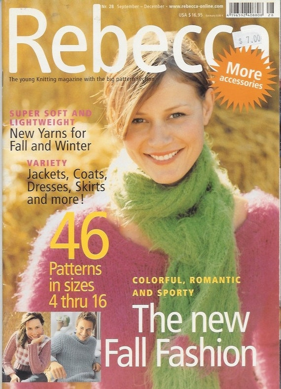Knitting Magazines List : Sale rebecca knitting magazine no fall by knitomatic