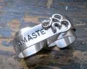 Gift for Her Ring Namaste TWO Finger Ring Engraved Silver Ring Chic Spring Fashion Fresh Finds Engraving on the OUTSIDE