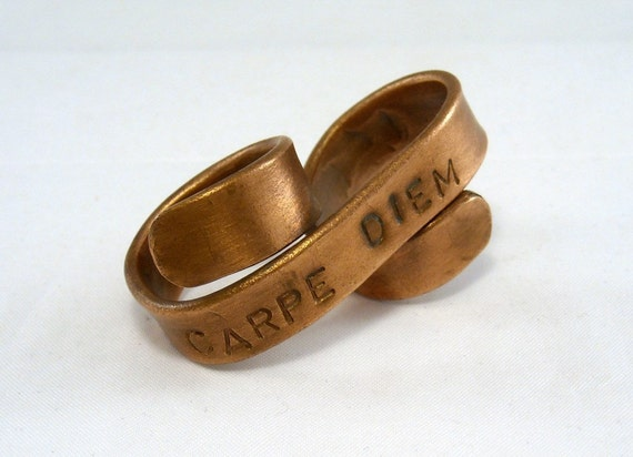Custom Two Finger Ring - Define Yourself Tattoo Banner Ring