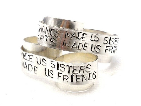 Sterling Personalized Ring, Two Finger Ring, Custom Sterling Silver Ring