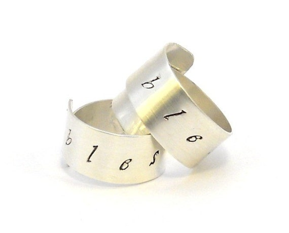 Personalized Couples Rings Sterling Silver by MerCurios on ...
