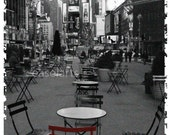 Broadway seating, New York - 5 x7 photo