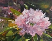 """Original Oil Painting -  Susan Kennedy - Rhododendron in Sun - """"Deep in its Roots"""""""