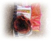 Fiber Art Fabric Scrapbook Keepsake LOVE ooak Textile ARt Book Journal