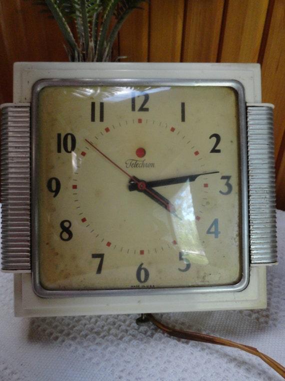 1940s Telechron wall clock.