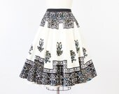 Full Circle Mexican Ink Design Vintage Skirt