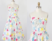 Splatter Paint Strapless Dress with Hearts and Stars