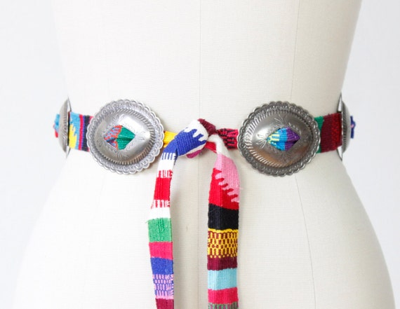 Bright Color Woven Southwest Indian Navajo Belt