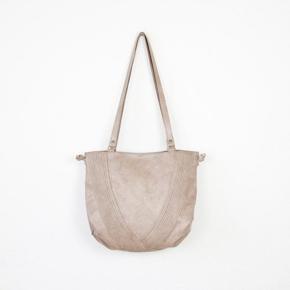 Gray Vinyl Everyday Vintage Bag