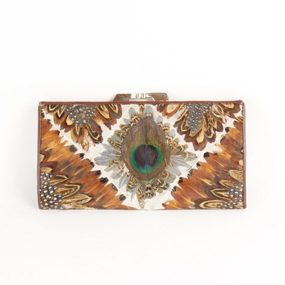 Peacock Feather Vintage Wallet