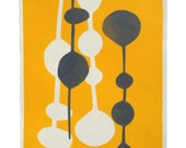 Studio Sale -- Mod Yellow and Grey Print