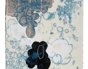 Veiled -- 10 x 10 inch Monoprint by Claire Jauregui
