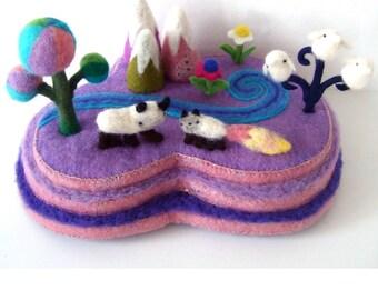 mountains, soft sculpture, hand made, one of a kind, wool, felt, needle felt, original art, mountains , decoration