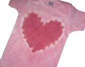 SALE - SoBen Baby - Tie dyed short-sleeved heart onesie - 3 to 6 months