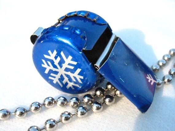 Tin Whistle Snowflake Blue Winter
