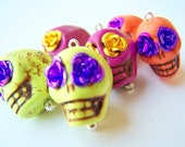 Calaveras - You Choose the Colors - Day of the Dead Skull Earrings