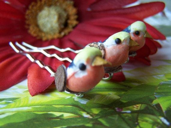 Tweets - Three Little Birds on Bobby Pins - Hair Decoration