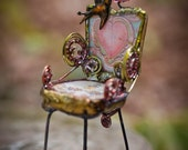 MINIATURE ART CHAIR - Why Should I - Reserved For Tina -