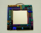 Pieces Series Fused Glass Mirror
