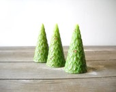 3 Vintage Christmas Tree Candles