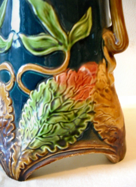 Majolica Vase Joseph Strnact Jr Antique By Momsantiquesnthings