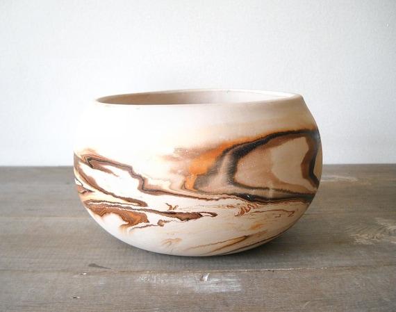 Nemadji Pottery Bowl Native American Indian Vintage