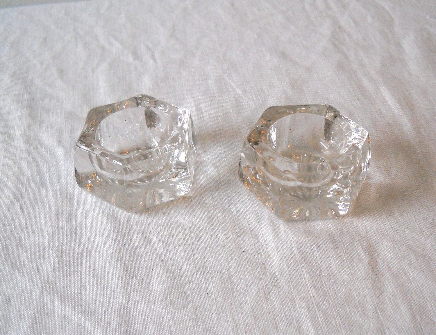 Vintage crystal salt cellars inidual by momsantiquesnthings