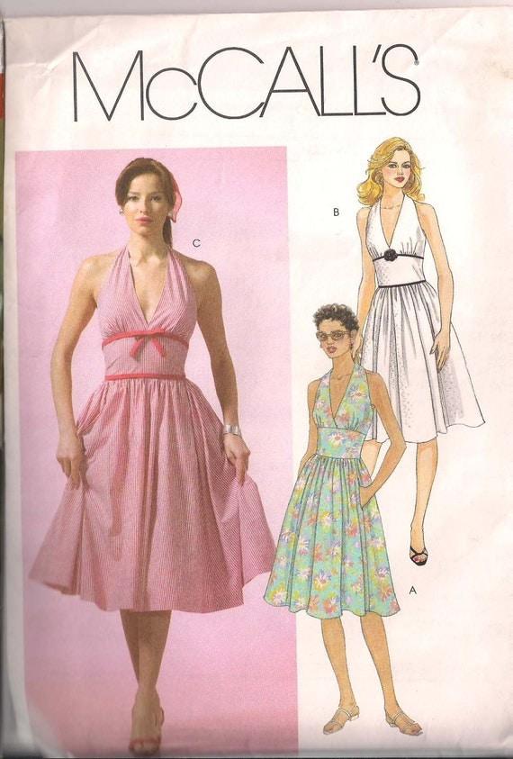 Retro Mccalls Swing Rockabilly Dress Pattern Halter Top Full