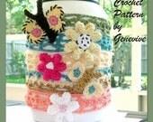 Free Crochet Pattern Headband Butterflies Flowers PDF 10