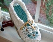 Instant Download - Crochet Pattern - Garden Party Slippers PDF 14