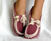 Instant Download - Crochet Pattern - Adult Button Loafers Slippers PDF 16