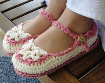 Instant Download - Crochet Pattern - Toddler Mary Jane Slippers PDF 20