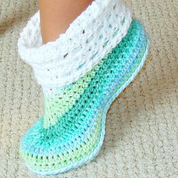 Cuffed booties crochet pattern adults and kids