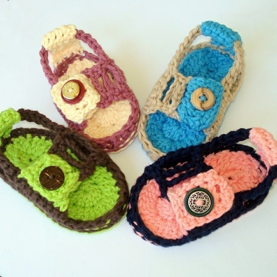 Instant Download - Crochet Pattern - Baby Heel Strap Sandals PDF 9