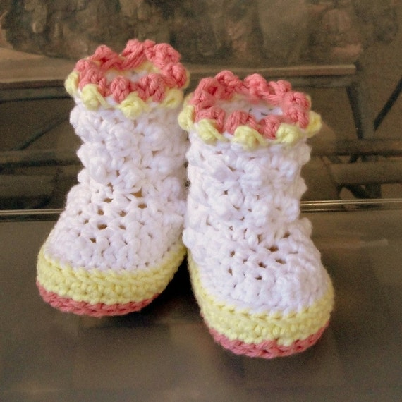 Instant Download - Crochet Pattern - Baby Raindrop Boots PDF 18
