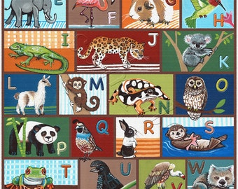 16x20 Animal ABC/alphabet poster.