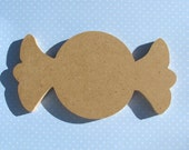 CANDY 8 inch unfinished MDF shape