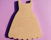 GIrly Girl Dress 8 inch Unfinished MDF Shape as seen in SImply Handmade Magazine