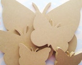 Butterfly Collection MDF Unfinished Wood Shape Cutouts for Scrapbooking, Mosaic Base and more