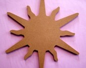 SUN - 8 inch unfinished shape